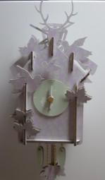 4345.87UQ11_Amsterdam_lila/grün_3D Steckuhr Mini 15cm Quarz