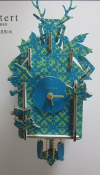 4338.87UQ41_Concord_ grünblau/grün_ 3D Steckuhr Mini 15cm Quarz